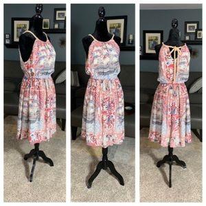 Anthropologie's Floreat 100% Silk Halter Dress
